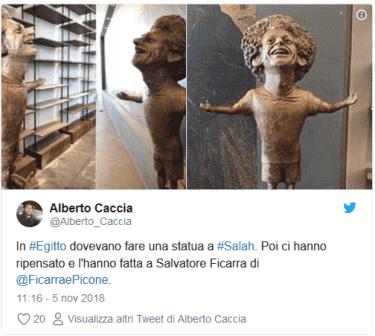 Meme statua Salah
